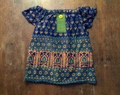 SALE! Blockprint Indian Tunic in size 2/3t  SAMPLE