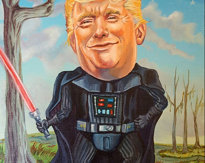 Darth Trump - Original painting by Mr Hooper of Nashville Tennessee