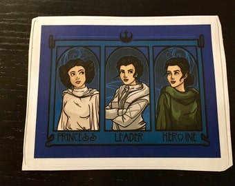 Individual Die Cut Leia (Princess, Leader, Herione) sticker (Item 01-061)