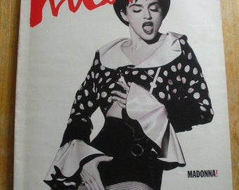 Vintage Interview Magazine-Andy Warhol-Madonna-Sean Young-Jeremy Irons-Louis Mal