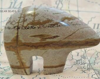 Picture Stone from Arizona HUGE Zuni Bear Watcher Guardian New Zuni Bears Gemstone