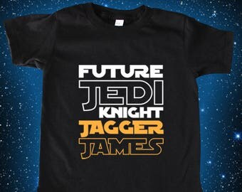 Custom Star Wars, Future Jedi Shirt, Star Wars Shirt, Star Wars Kids, Star Wars Baby, Star Wars Gift