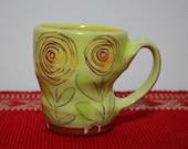 Earthenware Orange Ranunculus Mug