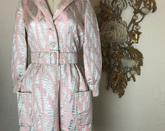Fall sale 1960s dress mini dress long sleeve dress size medium vintage dress mod dress mad men dress metallic dress
