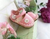 MADE TO ORDER - Blythe Pukifee Size M Azone Pure Neemo Lati Yellow Nikki Britt Tinies Ellemeno Ellabella Mini Pink Leather Mary Jane Shoes