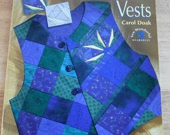 Easy reversible Vests, Vintage Softcover Book Patchwork Applique womens vests, vest embellishments, waist coat, patchwork vest patterns