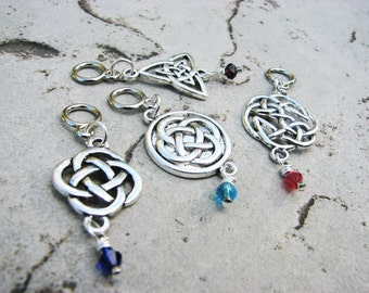 Celtic Knot Non-Snag Stitch Markers - Perfect for Cable Knitting