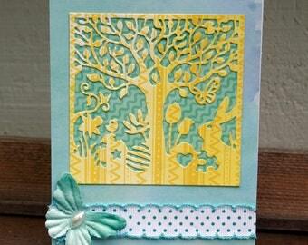 Springtime Easter Silhouette Card