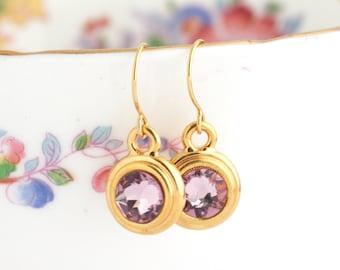 June Birthstone Earrings - June Birthday Gift - Birthstone Dangle Earrings - Birthday Stone Jewelry - Custom Birthstone Earrings