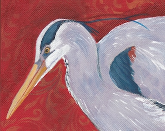 Great Blue Heron from original painting