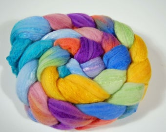Wool Top - Organic Polwarth and silk (80/20) blend- FIBER 31
