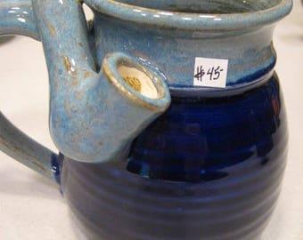Two Blue's  *  - Wake and Bake Small  Mug....  MUG and a PIPE.... AWESOME !!!  .......  A103