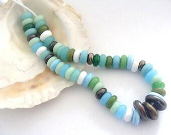 57 Handmade Lampwork Spacers Beads