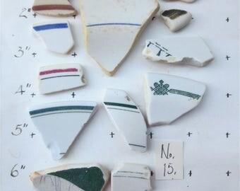Pottery China Shards  Puerto Rico Beaches Sea Glass Surf Ground
