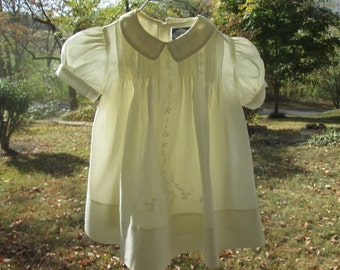 """Vintage Baby Dress and Slip - """"Carriage Boutiques"""" 9 mos - Baby Girl Clothes"""