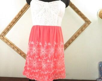 Flying Tomato Sweet Heart Neckline Woman Summer Dress Anthropologie Sz S
