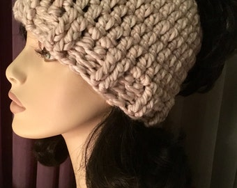 SALE Messy Bun hat Crochet Hat Womens Light Wheat or Black Color Hat Crochet Accessories Hat Womens Slouchy Tam Beret Crochet Hat