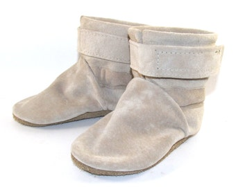 Soft Sole Tan Leather Baby Boots Shoes 6 to 12 Month