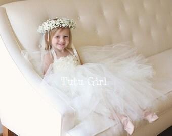 Ivory Flower Girl Dress Tutu Style Weddings Flower Girls Jr Bridesmaid