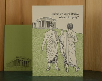 Toga - letterpress birthday card