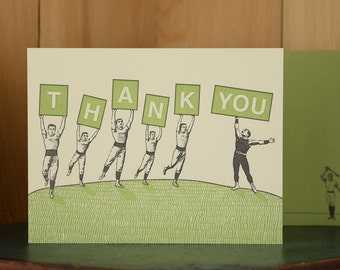 Athlete Thanks - letterpress thank you card