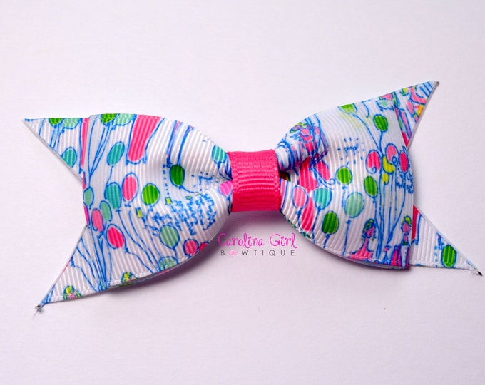 "Pop!  ~ 3.5"" Hairbow ~ Lilly Inspired ~ Small Hair Bow ~ Girls Barrette ~ Toddler Bow ~ Hair Clip ~ Girls Hair Bow"