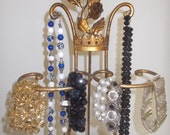 Necklace stand Gold Leaf Stand Italian Tole  Crown and Roses French style Hollywood Regency Paris apartment
