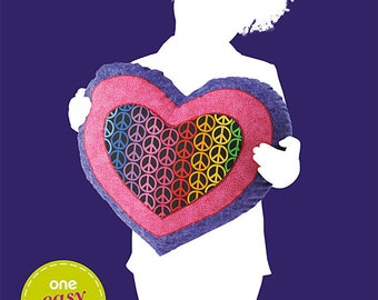 OOP Heart Pillow Sewing Pattern  Simplicity 1841 Sew Simple Pattern One Size