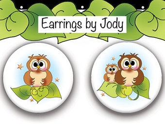 NEW Post Earrings - Owls