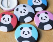 Panda • Mini Pin Badge, 38mm, assorted colours available