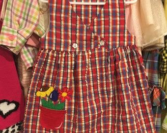 80s Plaid Dress 3T