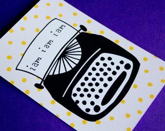Sylvia Plath Typewriter 5x7 Print