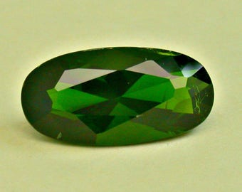 VINTAGE CHROME DIOPSIDE gemstone faceted oval cut 10.27 cts fg158