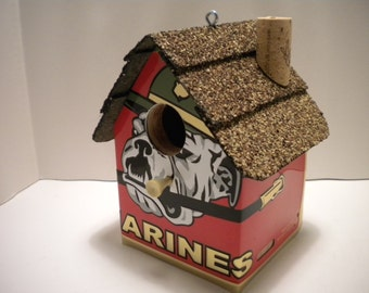 Marines License Plate Birdhouse