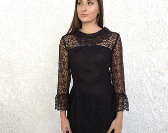 60's lace tulip sleeve dress