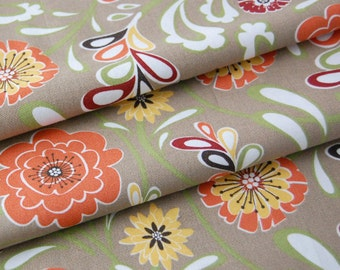 SALE organic cotton fabric by Daisy Janie - 1/2 YARD - Flourish