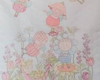 Flower Fairies Crib Cover