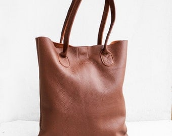 SALE The Essential Tote in Sienna Brown  / Leather Tote Bag  / Brown Tote Bag / Leather Handbag / Brown Leather Tote / Leather Handbag