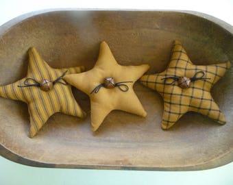 Primitive star bowl fillers gold black prim ornie tucks
