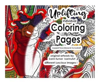 Uplifting Coloring Pages -karinsArt -studio karin turner