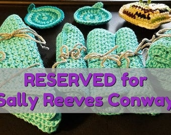 RESERVED: Sally Reeves Conway - Made to Order, Wonderfully Soft Washcloths, You Choose Your Color, Set of 3, Great Gift!