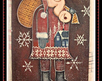 Apple Tree Cottage Original Design E Pattern - Olde Santa