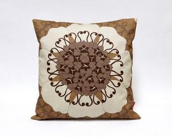 Modern Throw Pillow, Cushion Cover, Sofa Pillow, 16x16, pillow sham, accent pillow, mod cushion, mid century pillow handmade by EllaOsix