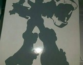 Transformers Voltron Full Body Vinyl Decal - Grey
