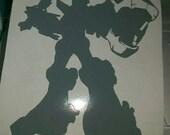 Transformers Voltron Full Body Vinyl Decal - Grey