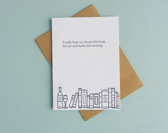 Letterpress Greeting Card - Book Gift Card - Book Club - BKG-530
