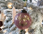 Christmas Ornament with Gold Lettering for the Holidays
