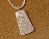 Pink Dichroic Pendant - Dichroic Heart Pendant - Dichroic Jewelry - Fused Glass Pendant - Fused Glass Jewelry - Valentines Jewelry