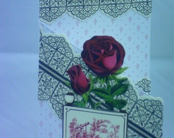 Striking Red and Black Birthday Card