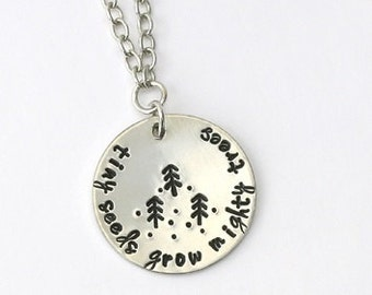 Design Stamp - PINE TREE - 4mm stamped image by ImpressArt -  includes How to Stamp Metal tutorial